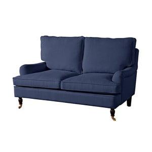 Tmavě modrá dvoumístná pohovka Max Winzer Passion