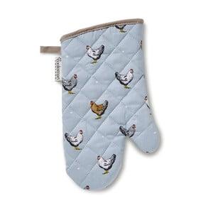 Modrá bavlněná rukavice do kuchyně Cooksmart England Farmers, délka 31 cm