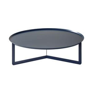 Tmavě modrý konferenční stolek MEME Design Round, Ø80cm