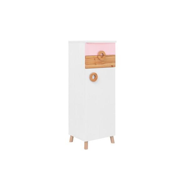 Różowo-biała szafka KICOTI Circle