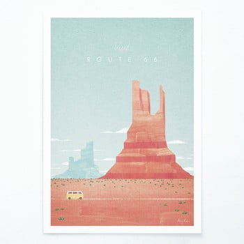 Poster Travelposter Route 66, A3 imagine