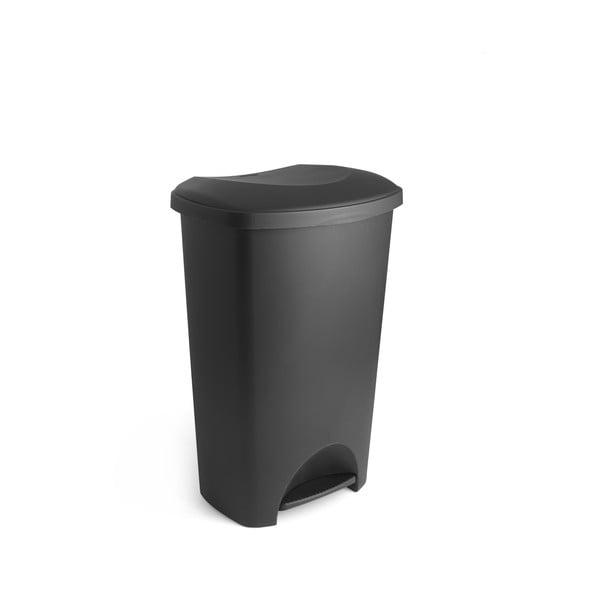 Coș de gunoi cu pedală și capac Addis, 41 x 33 x 62,5 cm, negru