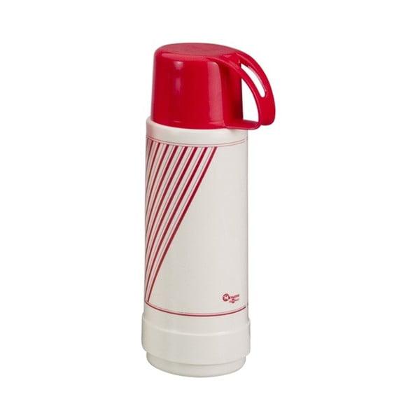 Červeno-bílá termo láhev Metaltex Vacuum, 1 l