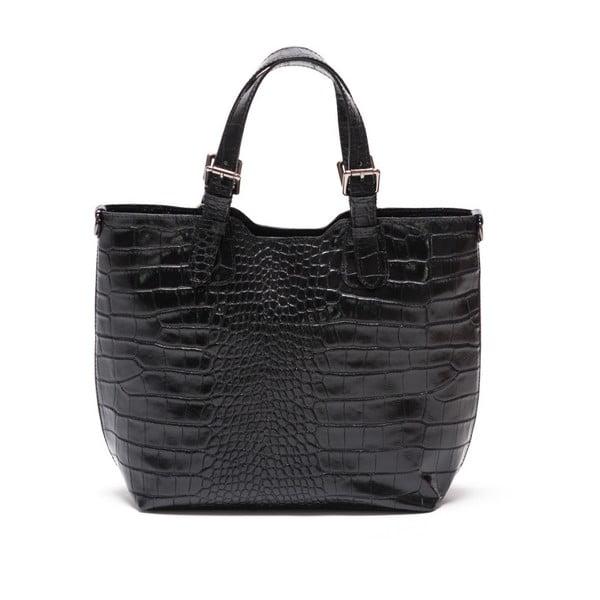 Kožená kabelka Renata Corsi 635 Noir