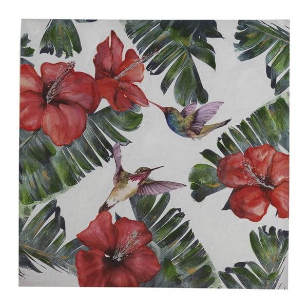 Nástěnný obraz na plátně Geese Modern Style Hummingbird Cubico, 100 x 100 cm