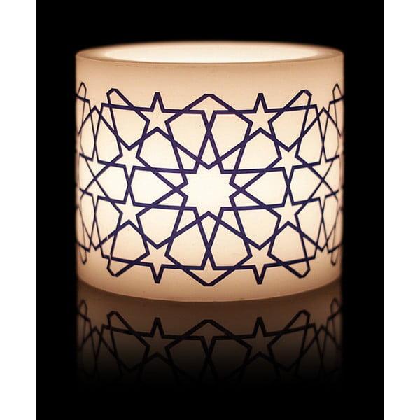 Kruhový svícen na čajovou svíčku Star Motif