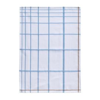 Prosop din bumbac pentru bucătărie Zone Garro, 50 x 70 cm, alb-albastru imagine