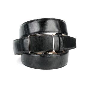 Pánský kožený pásek 37G10S Black, 90 cm