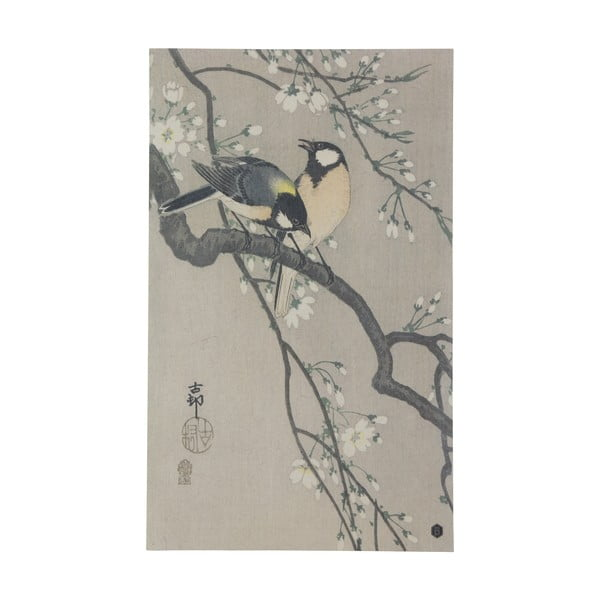 Plakát z ručně vyráběného papíru BePureHome Blossom, 35x25cm