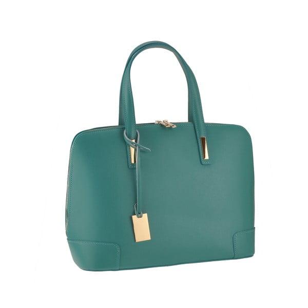 Kožená kabelka Rena, zelenomodrá