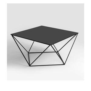 Černý konferenční stolek Custom Form Daryl, 80x80cm