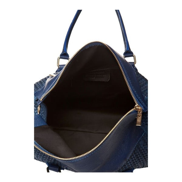 Modrá kožená kabelka Edmond Louis Amara