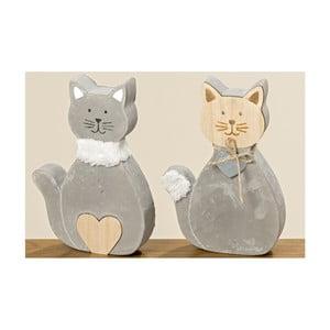 Sada 2 dekorativních betonových kočiček Boltze Kitty