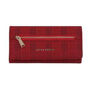 Červená peněženka Laura Ashley Cecilia Tartan