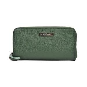 Zelené kožené psaníčko Mangotti Landallo