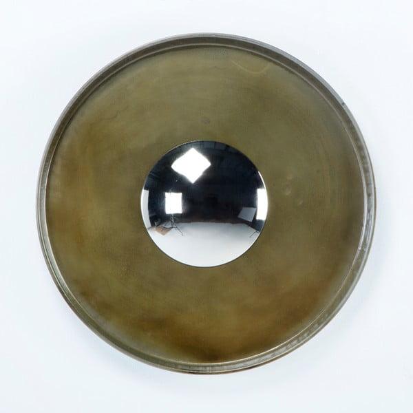 Nástěnné zrcadlo s kovovým rámem Thai Natura, ∅71cm