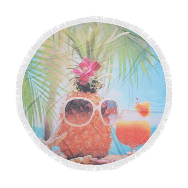 Barevná plážová osuška z bavlny Hawaii, ⌀ 150 cm