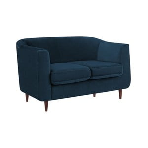 Tmavě modrá dvoumístná pohovka Kooko Home Glam
