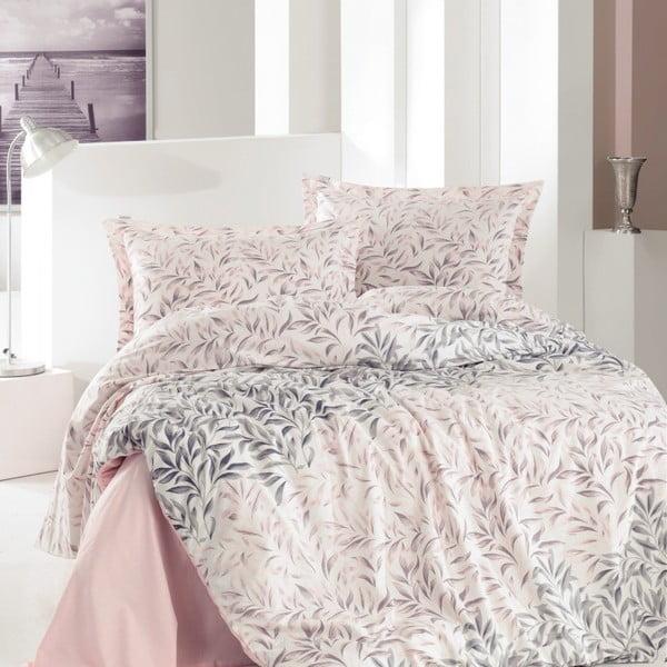 Lenjerie de pat din bumbac cu cearșaf Cabot, 160 x 220 cm