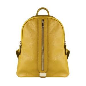 Žlutý kožený batoh Maison Bag Lisa