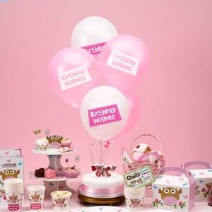 Sada 8 nafukovacích balónků Neviti Little Owls Birthday Wishes