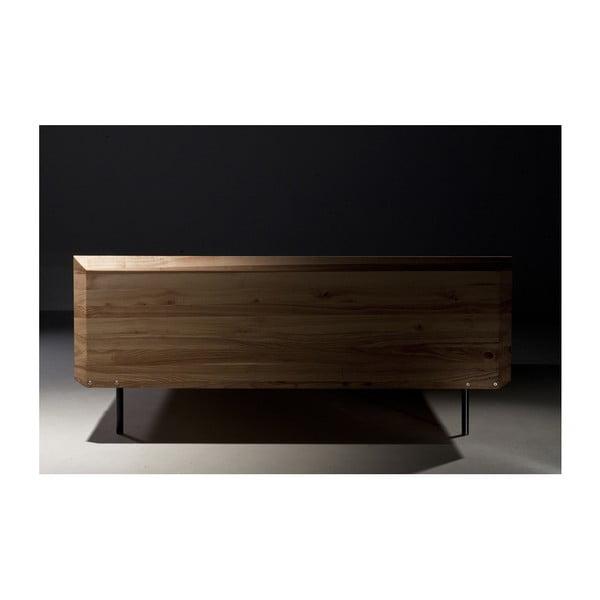 Postel z olejovaného jasanového dřeva Mazzivo Modo, 200x210cm
