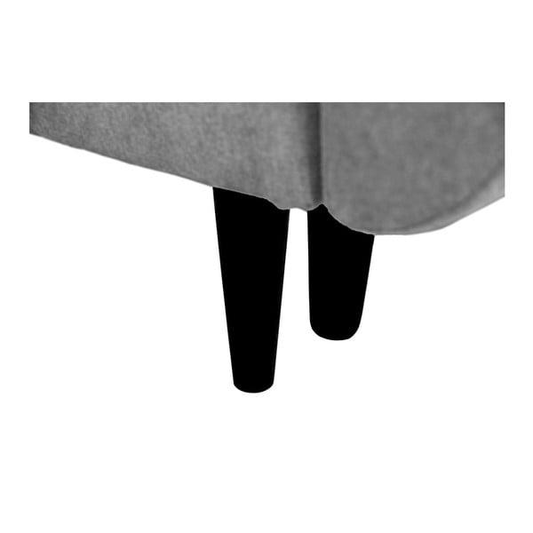 Šedá trojmístná rozkládací pohovka s černými nohami Mazzini Sofas Jasmin