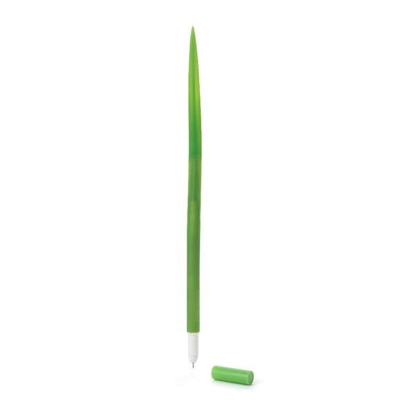 Set 3 pixuri în formă de fir de iarbă Kikkerland Grass, verde