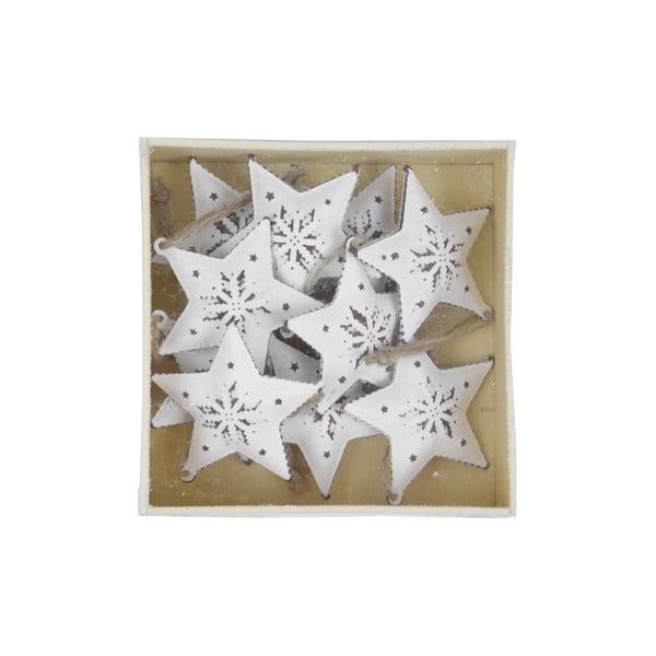 Sada 10 bílých závěsných rolniček Ego Dekor Star