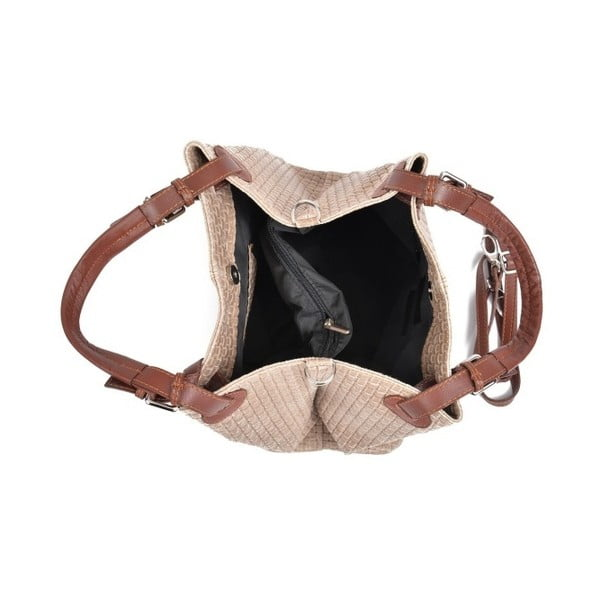 Pudrově růžová kožená kabelka IsabellaRhea Mihlia
