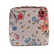 Květinová kožená kabelka Florence Bags Vaire, bordo zip