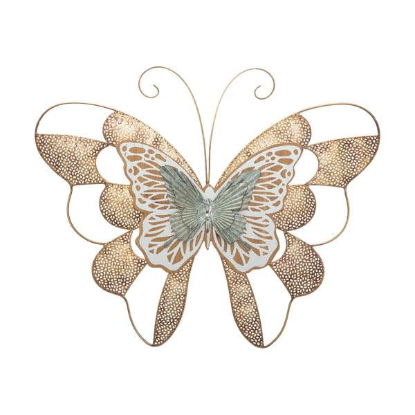 Kovová závěsná dekorace Mauro Ferretti ButterflyWoodA, 59,5x45,5cm