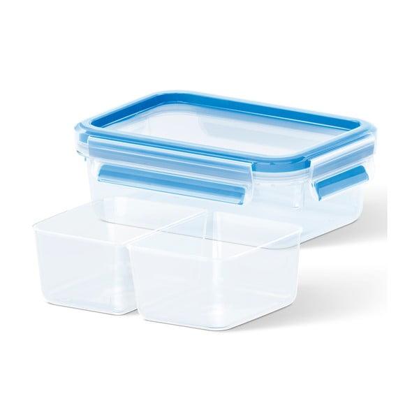 Box na uskladnění jídla Clip&Close + 2 přihrádky, 1 l