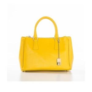 Žlutá kabelka z pravé kůže Federica Bassi Normani