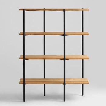 Bibliotecă cu rafturi din lemn de stejar Custom Form Rave, înălțime 150 cm de la Custom Form