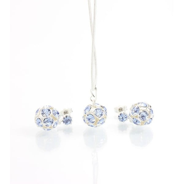 Set náhrdelníku a náušnic se Swarovski Elements Laura Bruni Yasmine Blue