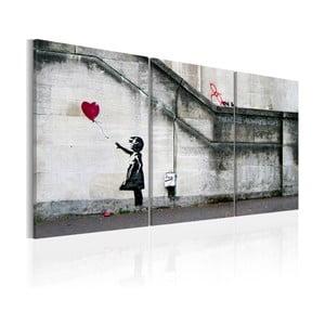 Vícedílný obraz na plátně Bimago Banksy Hope, 60x120cm
