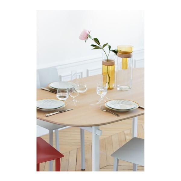 Bílý jídelní stůl z dubového dřeva HARTÔ Céleste, 180x86cm