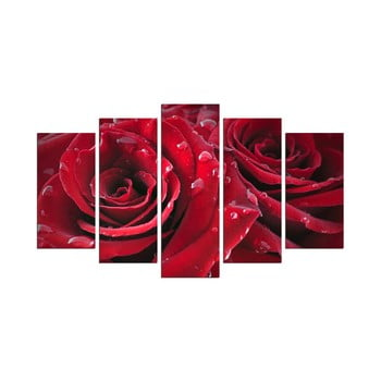Tablou din mai multe piese Rojo Manto, 110 x 60 cm