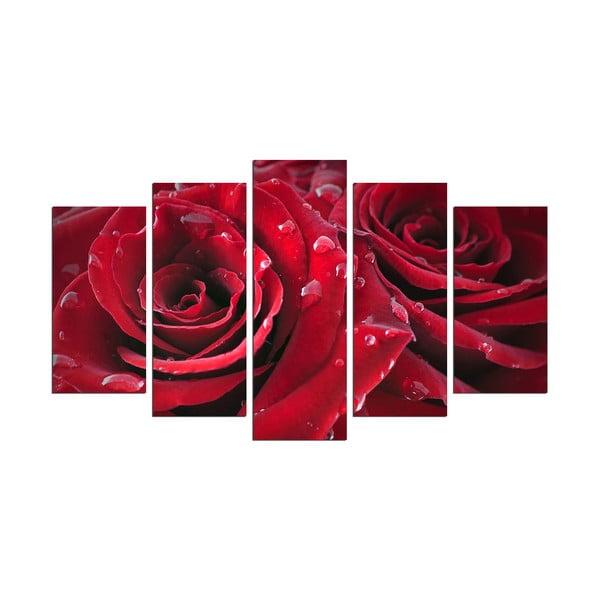 Wieloczęściowy obraz Rojo Manto, 110x60 cm