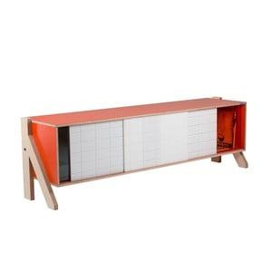 Oranžová komoda rform Frame, délka 165 cm