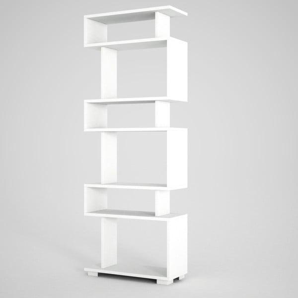 Blok New fehér könyvespolc