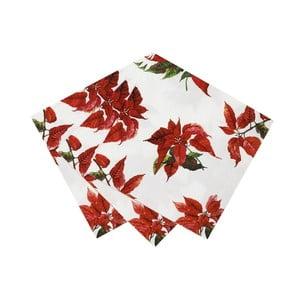 Sada 20 vánočních ubrousků Talking Tables Botanical