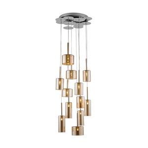 Zlaté závěsné svítidlo Alize,Ø50cm