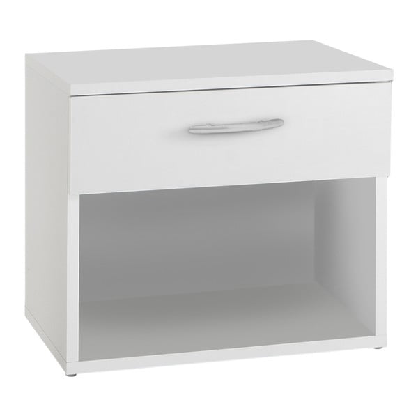 Bílý noční stolek se zásuvkou 13Casa Pepper