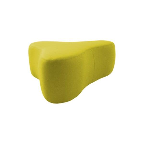 Žlutý puf Softline Chat Felt Melange Yellow, délka 90 cm