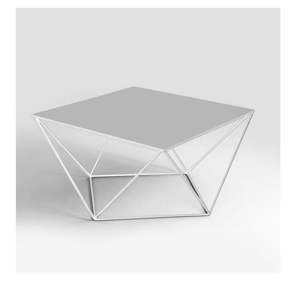 Daryl fehér dohányzóasztal, 80 x 80 cm - Custom Form