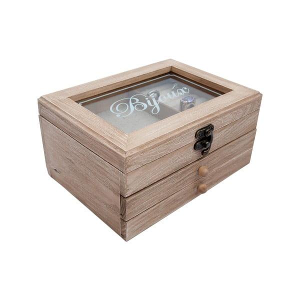 Drewniana szkatułka na biżuterię Antic Line Jewelry