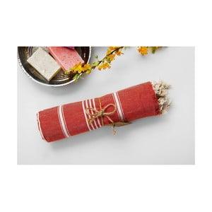 Hamam osuška Sabba Red, 100x180 cm