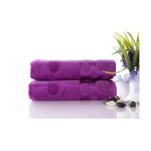 Set dvou ručníků Tropical Plum Color, 50x90 cm